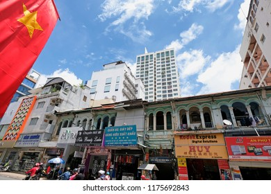 Ho Chi Minh City - Vietnam, 2018: View of Tran Hung Dao street, District 5. The District 5 more popularly known as Cho Lon, is the city's Chinatown.