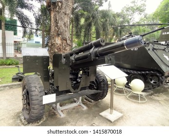 Ho Chi  Minh City, Vietnam (October 2017) - 105 mm Howitzer which is used during the Vietnam War
