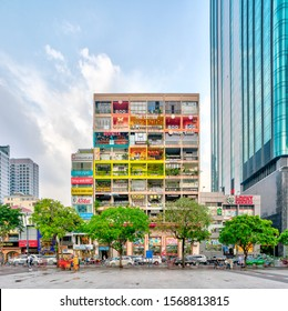 Ho Chi Minh City / Vietnam - October 2019: The Cafe apartment at daytime. The apartment is a new tourist attraction in Ho Chi Minh City located at Nguyen Hue street, Ho Chi Minh City.