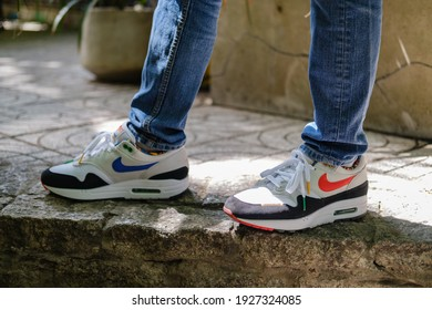 HO CHI MINH CITY, VIETNAM - MAR 02, 2021: Review Nike Air Max Live Together - Play Together