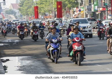 HO CHI MINH CITY, VIETNAM, - Jul 3, 2016 : Motorcycle traffic in Ho Chi Minh city. Is located in the South of Vietnam, is the country's largest city.
