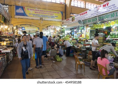 HO CHI MINH CITY, VIETNAM, - Jul 3, 2016 : People shopping at Ben Thanh Market in Ho Chi Minh, Vietnam. Ben Thanh Market is biggest market and attraction in Ho Chi Minh City.