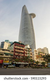 Ho Chi Minh City, Vietnam - January 28, 2017: Bitexco Tower. Bitexco Tower is a 68 storey 262.5 m skyscraper built in 2010