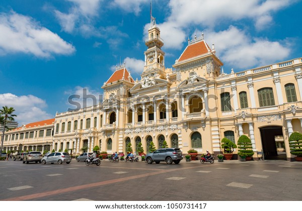 Ho Chi Minh CityVietnamMarch 20, 2018The old, French colonial, Saigon city hall.