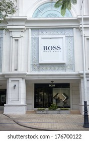 HO CHI MINH CITY, VIETNAM-OCTOBER 30TH 2013: Hugo Boss store in District 1. The official distributor in Vietnam and owner of the shop is the Tam Son company.