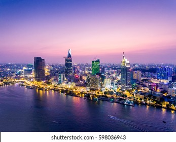 Ho Chi Minh City view at night