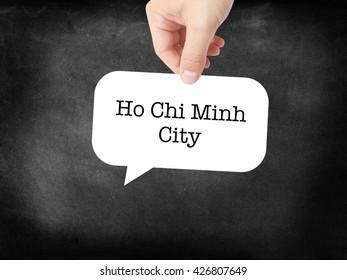 Ho Chi Minh City written on a speechbubble