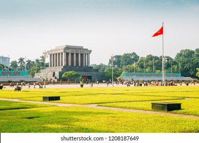 Ho Chi Minh Mausoleum and Ba Dinh square in Hanoi, Vietnam