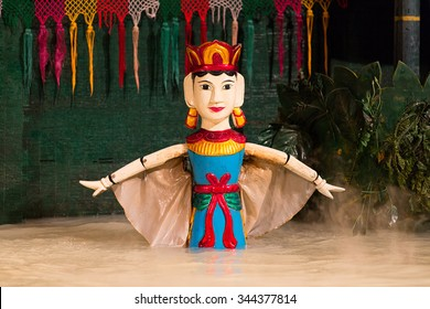 HO CHI MINH - MAY 29, 2015: Vietnamese water puppet show at Golden Dragon Water Puppet Theater in Ho Chi Minh, Vietnam.