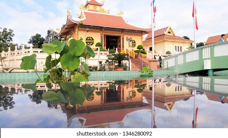 Ho Chi Minh memorial place in Nakhon Phanom Thailand. The name in Thai is A Nu Sorn Sathan Ho Chi Minh