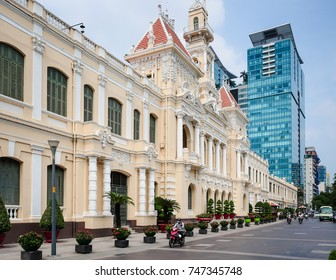 HO CHI MINH / VIETNAM, 29 OCTOBER 2017 -  The People's committee building of Ho Chi Minh City. It is one of the most Vietnam Popular Destinations in this metropolis.