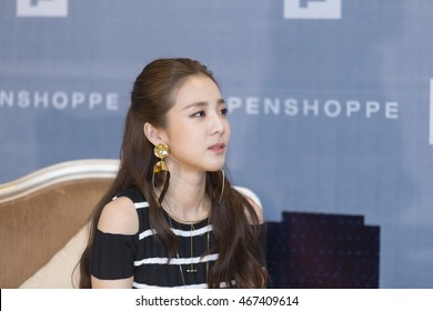 Ho Chi Minh , VietNam - August 5, 2016: Korean super star Sandara Park (Dara from 2NE1) at the press conference for fashion brand Penshoppe in Park Hyatt Hotel.