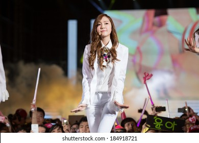 Ho Chi Minh , VietNam - March 22: Tiffany (SNSD, Girls' Generation band) dance and sing the song Mr Mr on stage at the Human Culture Equilibrium Concert Korea Festival in Viet Nam on March 22, 2014.