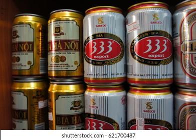 Ho Chi Minh, Vietnam - Nov 3, 2010 ; Vietnam original beer in store.