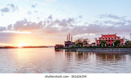 HO CHI MINH, VIETNAM - November 21 2015: view from Ben Nha Rong at Ho Chi Minh City.