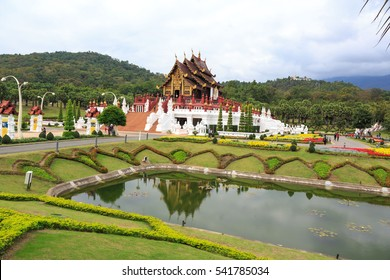Ho kham luang northern thai style Lanna in Royal Flora  (ratchaphreuk)in Chiang Mai,Thailand.