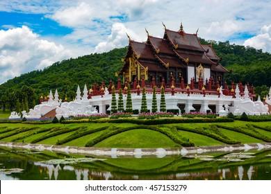 Ho Kham Luang Pavilion at Royal Park Rajapruek in Chiang Mai, Thailand