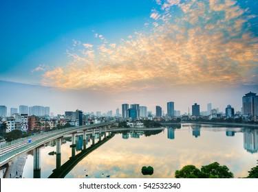Hoang cau lake - hanoi Cityscape