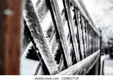 Hoar frost on the fence in Vernon BC