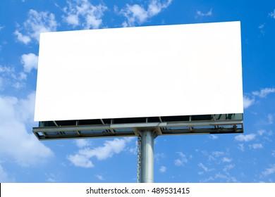 Hoarding Mock Up template blue sky