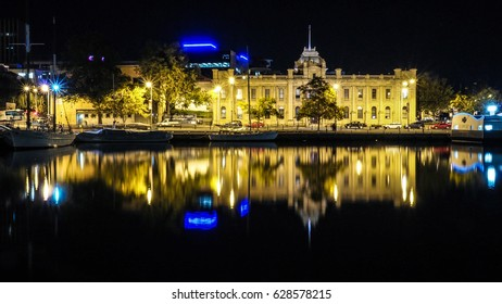HOBART AUSTRALIA - APRIL 8, 2017: Sullivans Cove and Tasmania Museum and Art Gallery - Hobart is the state capital of Tasmania and Australia's second oldest capital city after Sydney.