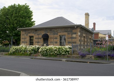 HOBART, AUSTRALIA - NOVEMBER 08: Residential buildings that are from first settlement period in historic Battery Point