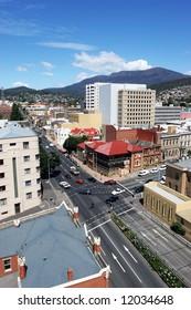 Hobart City looking towards Mount Wellington
