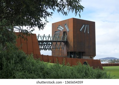 HOBART - MAR 20 2019: Mona  Museum of Old and New Art in Hobart Tasmania, Australia.