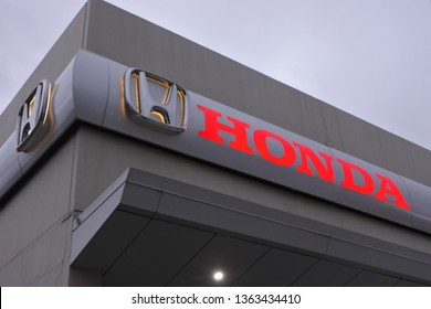 HOBART - MAR 20 2019:Honda dealership showroom.Honda became the second-largest Japanese automobile manufacturer in 2001.