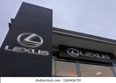 HOBART - MAR 20 2019:Lexus dealership showroom.Lexus is luxury vehicle division of the Japanese automaker Toyota. The Lexus brand is marketed in more than 70 countries and territories worldwide