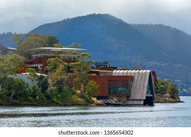 HOBART - MAR 20 2019:Mona Museum of Old and New Art in Hobart Tasmania, Australia.