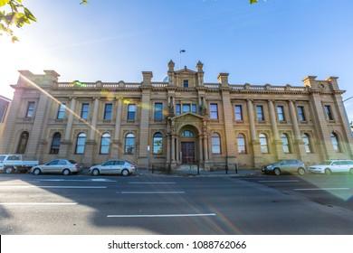 Hobart, Tasmania, Australia - January 16, 2015: The Tasmania Museum and Art Gallery