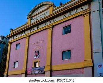 Hobart, Tasmania/Australia - Feb. 4, 2017: University of Tasmania in Hobart, Tasmania, Australia.