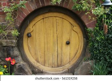 Hobbit Hole Door Hobbiton Village Mata-Mata New Zealand & Hobbit Door Images Stock Photos u0026 Vectors | Shutterstock