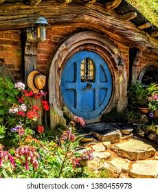 Hobbit house in Hobbiton, New Zealand