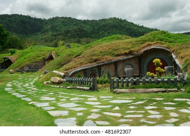 the hobbit vinlage simulation in thailand.It's beautiful place tourists can rent the hobbit suits for take a photo