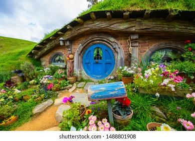 Hobbiton Village at Northland, Matata, New Zealand. 12-15 September 2014