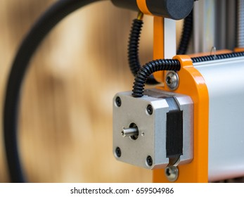 Hobby grade CNC machine, detail of Y and Z axis mechanism