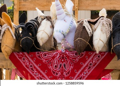 Hobby horses in the corral