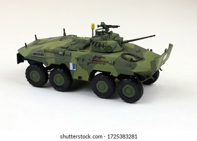hobby modelling, plastic model of the tank made by hand, german armored car