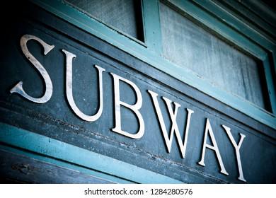 Hoboken, New Jersey, USA. Train station circa 1800s.