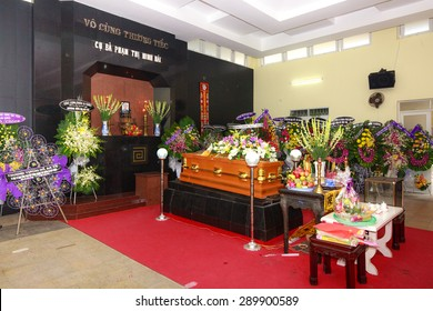 Hochiminh City Vietnam June 13 2015 in the tradition of the Funeral The Ceremony to take Asian Buddhism to the final resting place deceased