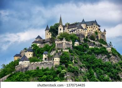 HOCHOSTERWITZ/ AUSTRIA MAY 2017: View on Castle Hochosterwitz in Carinthia, Austria