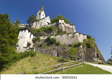 Hochosterwitz castle and church , Austria, Vienna