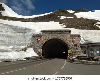 Hochtor tunnel at Großglockner mountain road