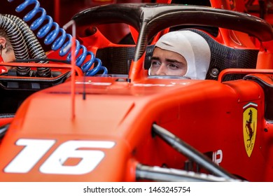 Hockenheim, Germany. 25-28/07/2019. Grand Prix of Germany. F1 World Championship 2019. Charles Leclerc, into the garage.