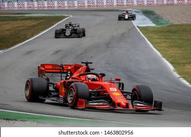 Hockenheim, Germany. 25-28/07/2019. Grand Prix of Germany. F1 World Championship 2019. Sebastian Vettel, Ferrari, second at Grand Prix of Germany.