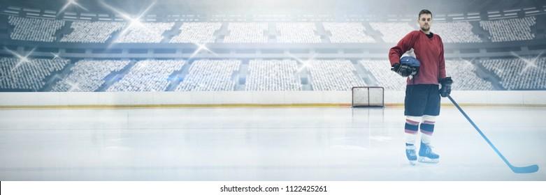 Hockey against american football arena