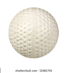 hockey ball isolated on white
