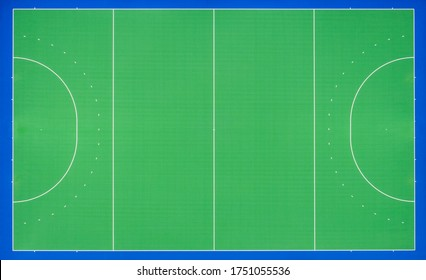 Hockey Pitch, Top Down View